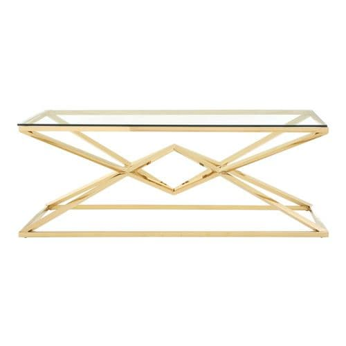 Ferris Coffee Table Champagne Gold Home Furniture