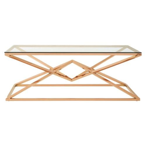 Ferris Coffee Table Rose Gold Home Furniture
