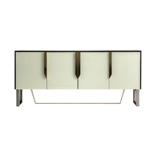 Kemiel 180cm Cream Glass Sideboard With Gold
