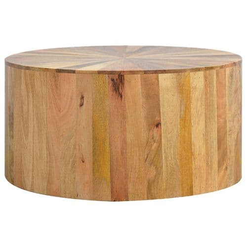 Lavister Round Wooden Coffee Table Oak Home Furniture