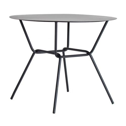 Lirra Black Iron Round Side Table