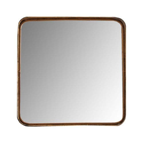 Luciana Square Gold Wall Mirror 65cm - Chic Paradis Lux
