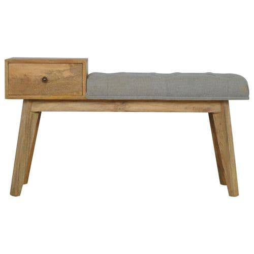 Maediso Wooden Bench - Grey | Home Furniture
