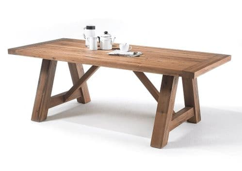 Montego 220cm Extra Wide Wooden Dining Table