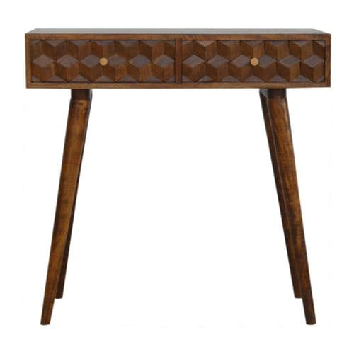 Mosaic Console Table Cube Carved Home Furniture