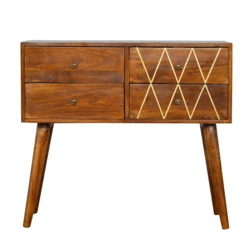 Quinora Console Table Brass Inlay Home Furniture