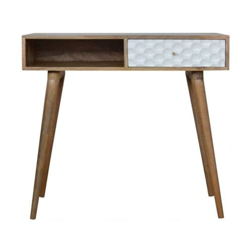 Racour Wooden Writing Desk Honeycomb Home Furniture
