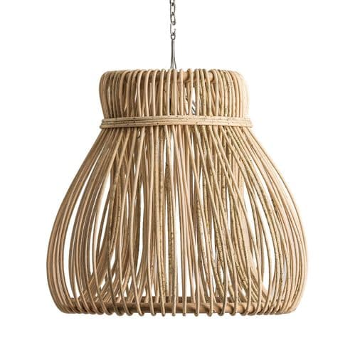 Rattan Drop Ceiling Light With Chain  - Chic Paradis Lux