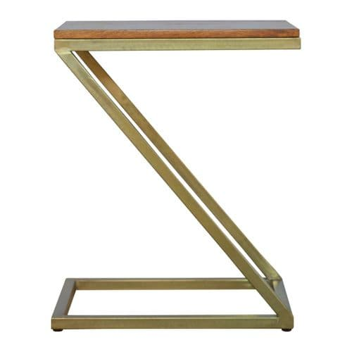 Ravile Z-Shaped Side Table Golden Home Furniture