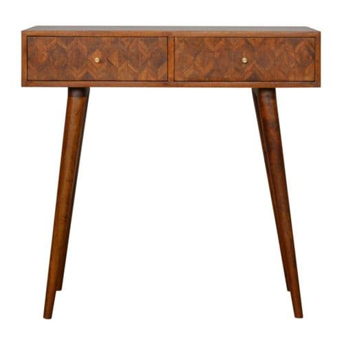 Rofelle 2-Drawer Console Table Chestnut Home Furniture