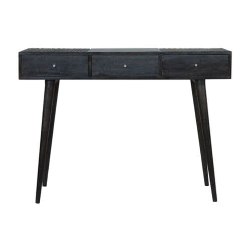 Rofelle 3-Drawer Console Table Ash Black Home Furniture