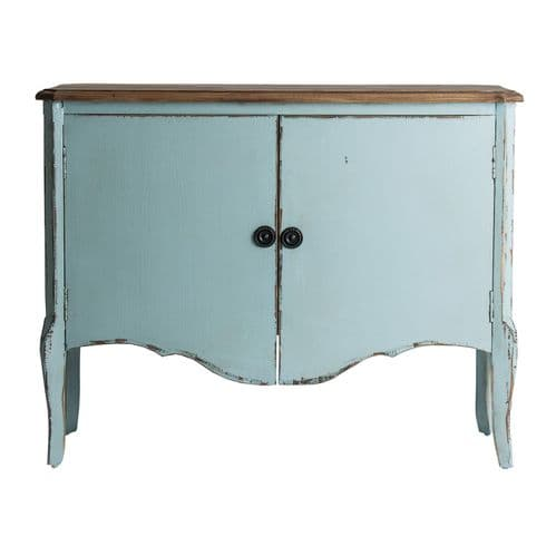 Tamara Small Light Sky Blue Wooden Sideboard -ChicParadisLux