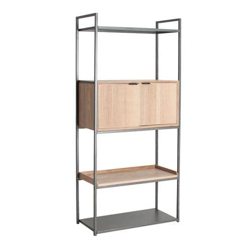 Vernon 84cm Wooden Bookcase With Cupboard