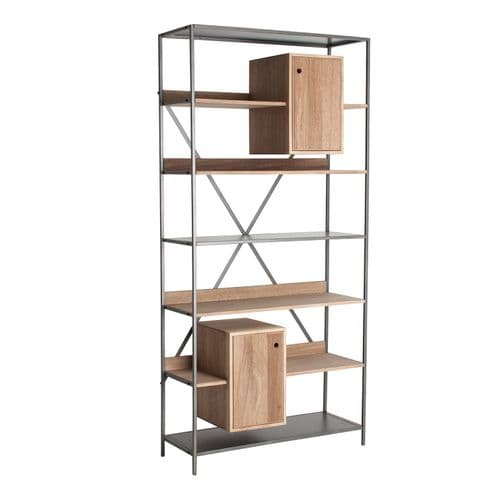 Vernon 95cm Wide Wooden Bookcase With Cupboard