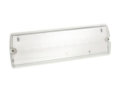 Bell Lighting 09040 3.3W Spectrum LED Emerg Bulkhead IP65 Maintained Includes Legends