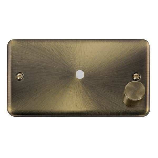 Click Deco Plus Antique Brass DPAB1852 Gang Dimmer Plate & Knob (630W or 1000W) - 1 Aperture  s
