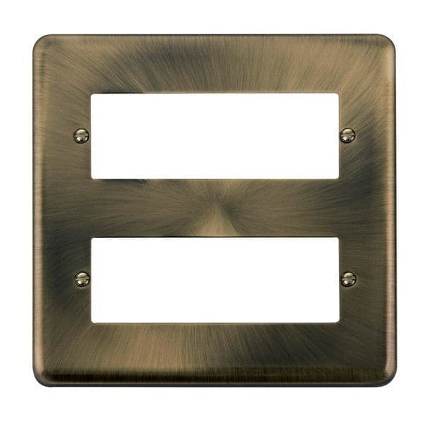 Click Deco Plus Antique Brass DPAB5122 Tier MiniGrid Degree Module Plate - 12 Apertures  s