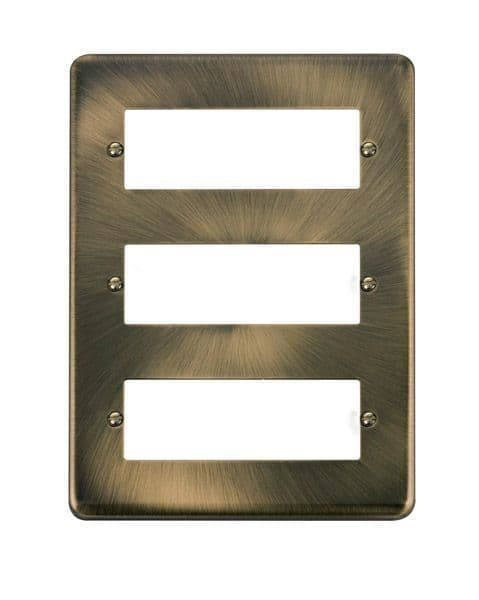 Click Deco Plus Antique Brass DPAB5183 Tier MiniGrid Degree Module Plate - 18 Apertures  s
