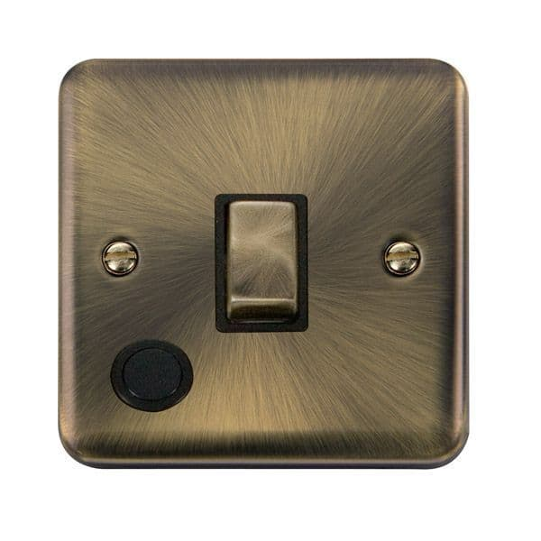 Click Deco Plus Antique Brass DPAB522BK20A Ingot 1 Gang DP Switch W/ Flex Outlet - Blacks