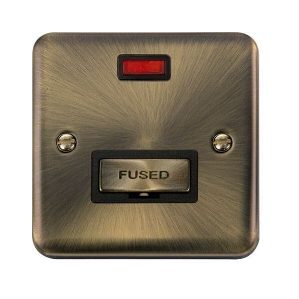 Click Deco Plus Antique Brass DPAB753BK13A Ingot Fused Connection Unit W/ Neon - Blacks