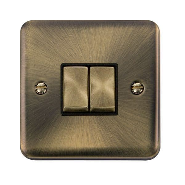 Click Deco Plus Antique Brass DPABBK-SMART2Deco Plus 1G Plate 2 Apertures  2 x 10AX 2 Way