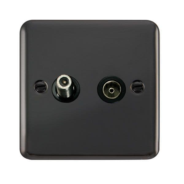 Click Deco Plus Black Nickel DPBN170BKNon-Isolated Satellite & Coaxial Outlet - Blacks