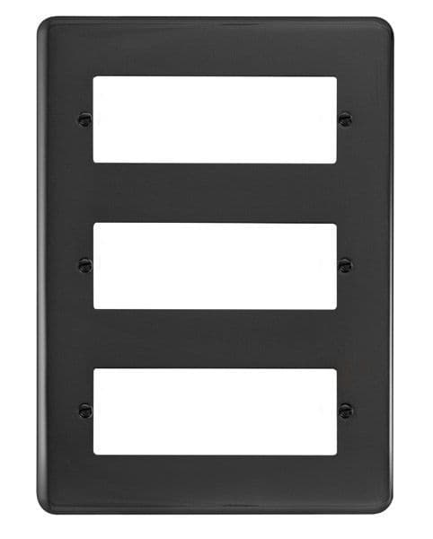 Click Deco Plus Black Nickel DPBN5183 Tier MiniGrid Degree Module Plate - 18 Apertures  s
