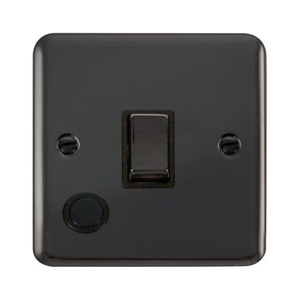 Click Deco Plus Black Nickel DPBN522BK20A Ingot 1 Gang DP Switch W/ Flex Outlet - Blacks