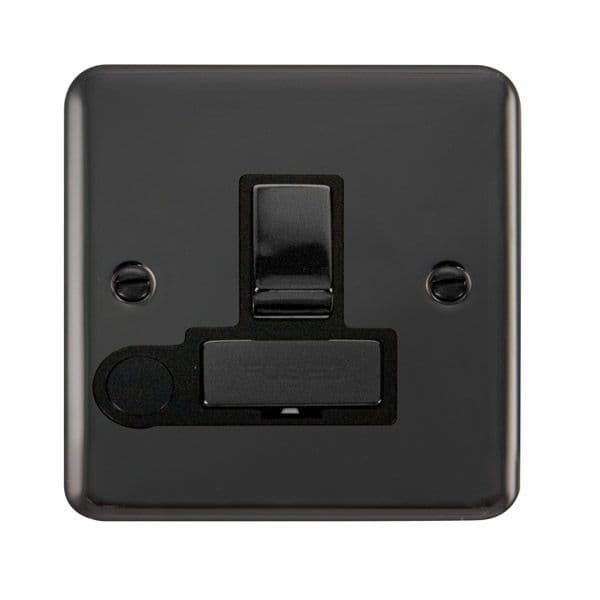 Click Deco Plus Black Nickel DPBN551BK13A Ingot DP Switched Fused Connection Unit W/ Flex Outlet