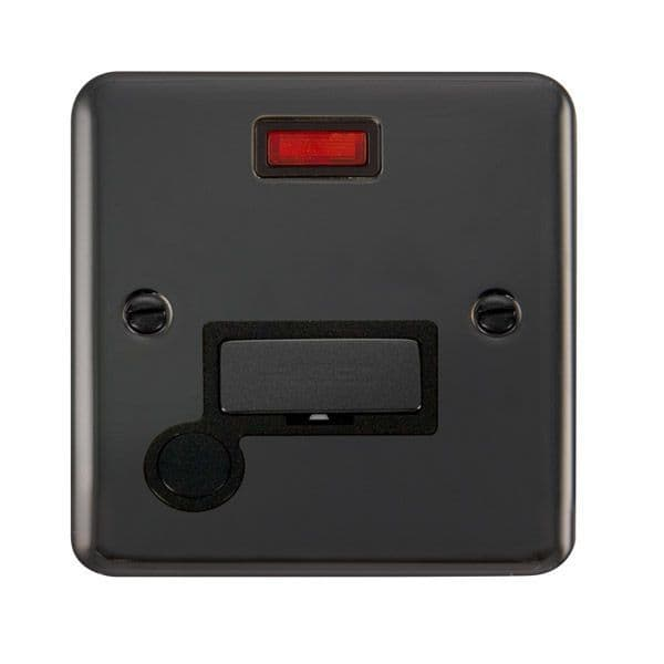 Click Deco Plus Black Nickel DPBN553BK13A Ingot Fused Connection Unit W/ Flex Outlet & Neon - Blacks