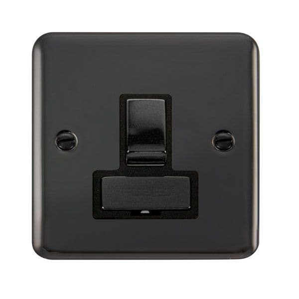 Click Deco Plus Black Nickel DPBN751BK13A Ingot DP Switched Fused Connection Unit - Blacks