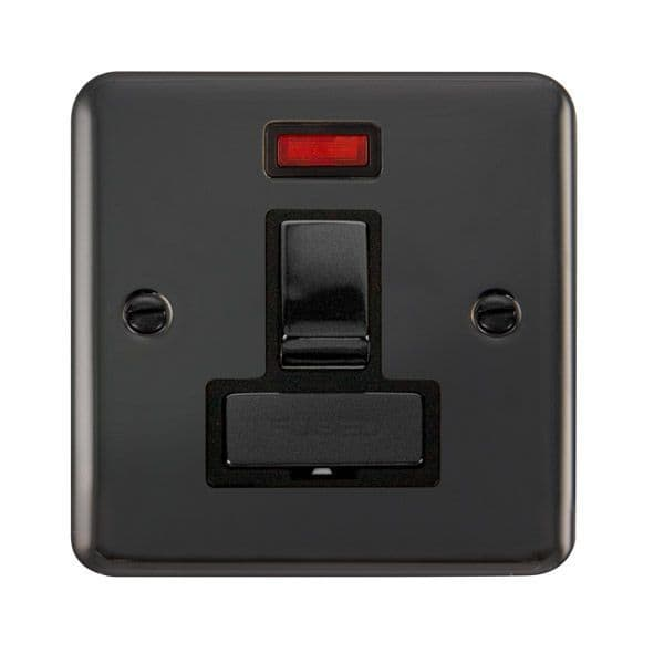 Click Deco Plus Black Nickel DPBN752BK13A Ingot DP Switched Fused Connection Unit W/ Neon - Blacks