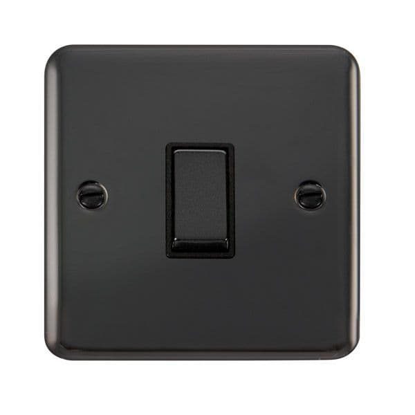 Click Deco Plus Black Nickel DPBNBK-SMART1Deco Plus 1G Plate 1 Aperture  1 x 10AX 2 Way