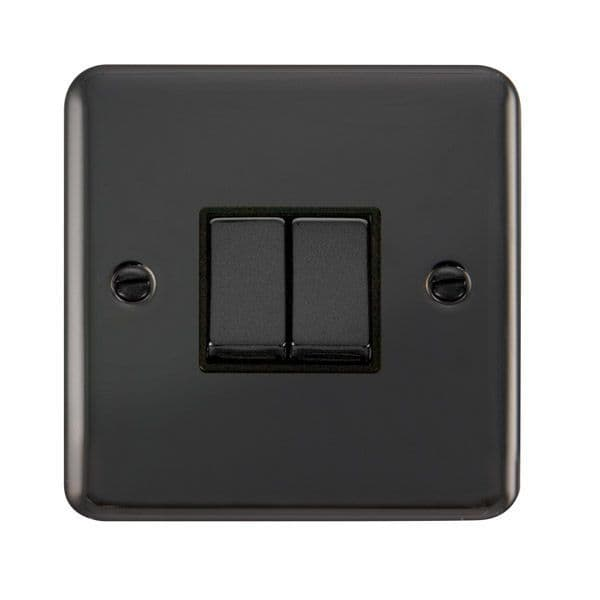 Click Deco Plus Black Nickel DPBNBK-SMART2Deco Plus 1G Plate 2 Apertures  2 x 10AX 2 Way