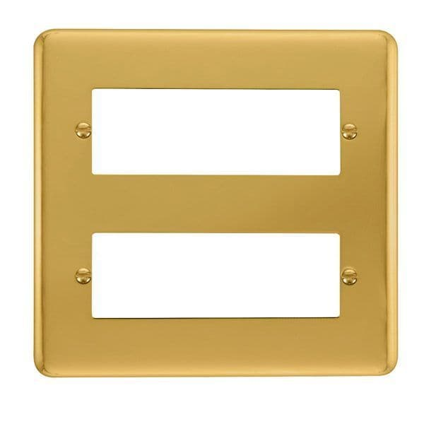 Click Deco Plus Polished Brass DPBR5122 Tier MiniGrid Degree Module Plate - 12 Apertures  s