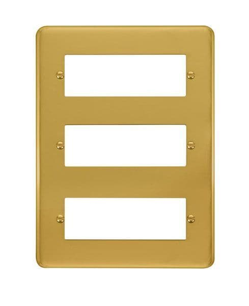 Click Deco Plus Polished Brass DPBR5183 Tier MiniGrid Degree Module Plate - 18 Apertures  s
