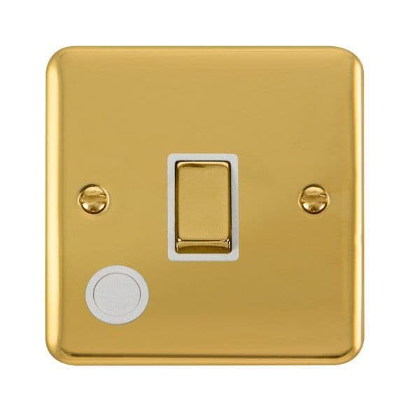 Click Deco Plus Polished Brass DPBR522WH20A Ingot 1 Gang DP Switch W/ Flex Outlet - white