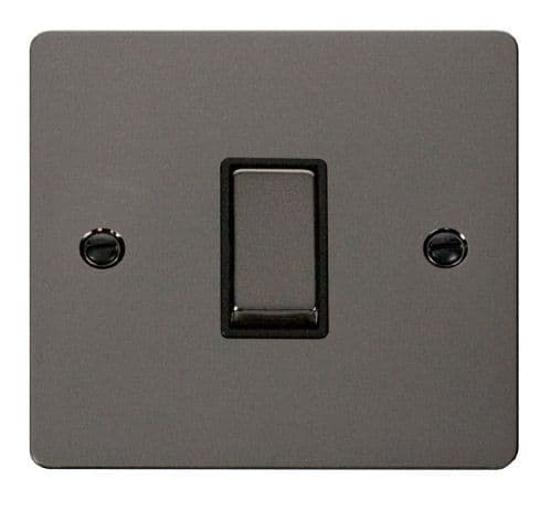Click FPBNBK-SMART1 1G Plate 1 Aperture  1 x 10AX 2 Way Ingot Retractive Switch Module - Black