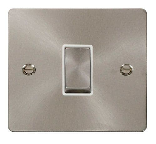 Click FPBSWH-SMART1 1G Plate 1 Aperture  1 x 10AX 2 Way Ingot Retractive Switch Module - White