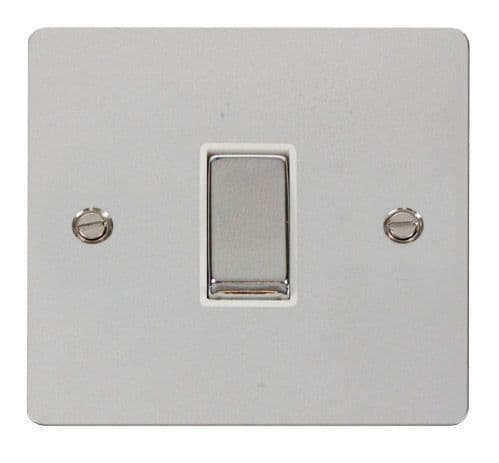Click FPCHWH-SMART1 1G Plate 1 Aperture  1 x 10AX 2 Way Ingot Retractive Switch Module - White