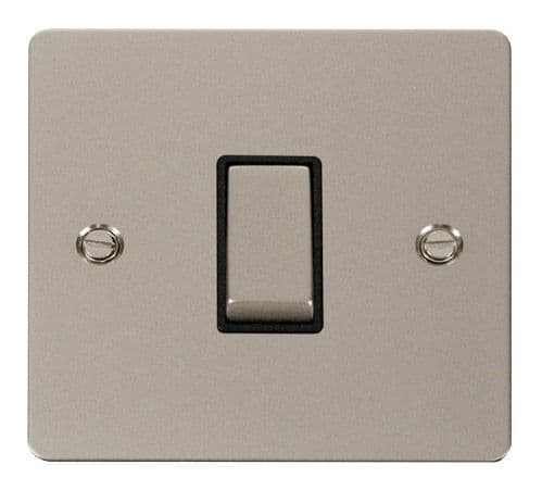Click FPPNBK-SMART1 1G Plate 1 Aperture  1 x 10AX 2 Way Ingot Retractive Switch Module - Black