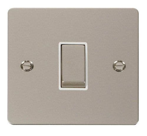 Click FPPNWH-SMART1 1G Plate 1 Aperture  1 x 10AX 2 Way Ingot Retractive Switch Module - White