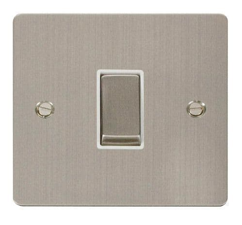 Click FPSSWH-SMART1 1G Plate 1 Aperture  1 x 10AX 2 Way Ingot Retractive Switch Module - White