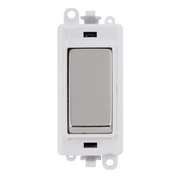 Click Grid Pro GM2075PWCH  20AX 3 Position Retractive Switch Module - White - Polished Chrome