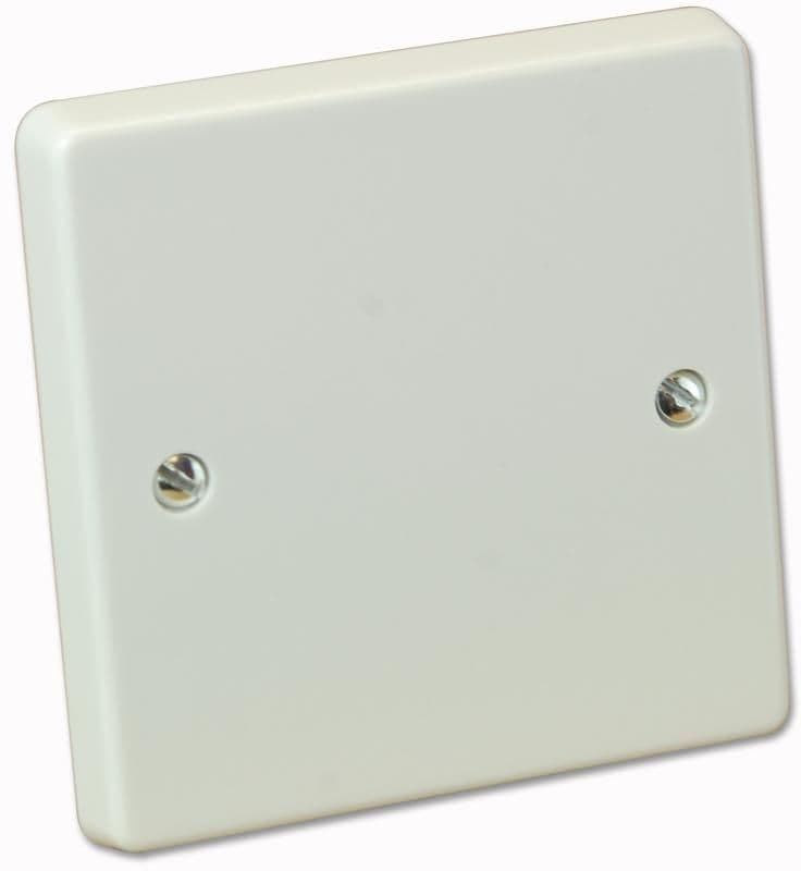 Crabtree 4001 White Moulded 1 Gang Blank Plate