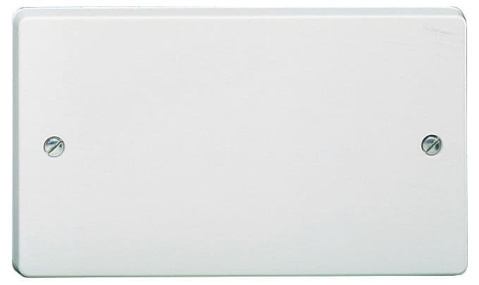 Crabtree 4002 White Moulded 2 Gang Blank Plate