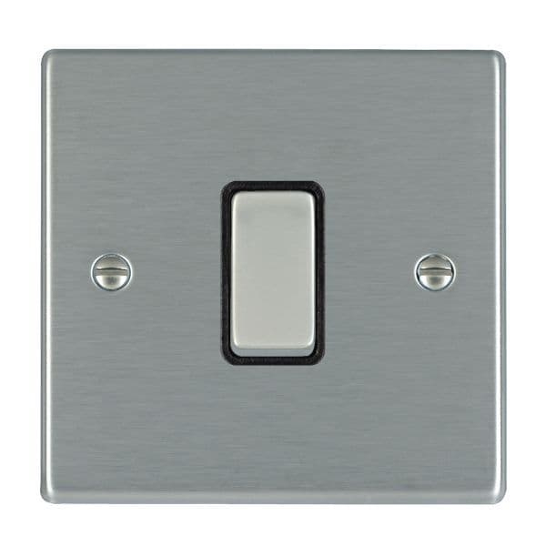Hartland 74R21SS-B and 74R21SS-W Stainless Steel Light Switch 1G 2W