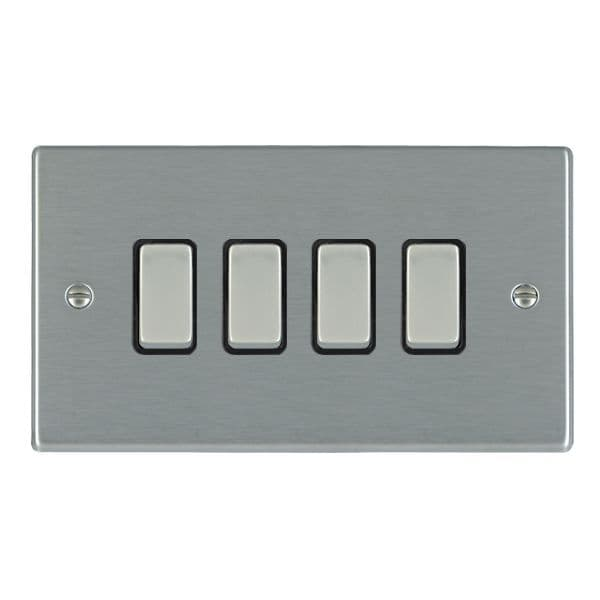 Hartland 74R24SS-B and 74R24SS-W Stainless Steel Light Switch 4G 2W