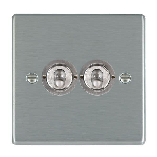 Hartland 74T22 Stainless Steel Toggle Switch 2G