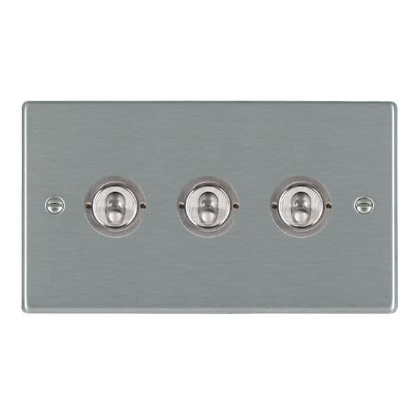 Hartland 74T23 Stainless Steel Toggle Switch 3G